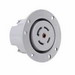 Pass & Seymour L2130-FO Turnlok® Flanged Outlet; 30 Amp, 120/280 Volt AC, 5-Wire, NEMA L21-30R, Gray