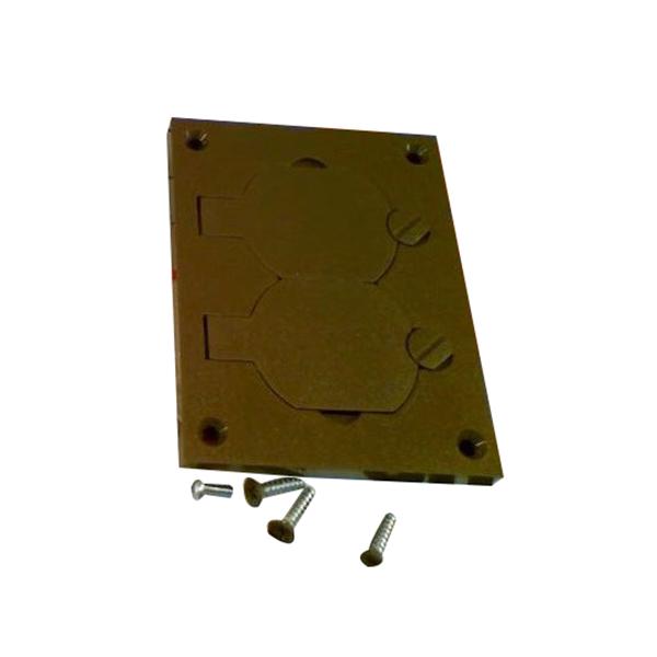 Wiremold 828PR-BRN OmniBox Series Duplex Cover Plate; 3.188 Inch Width x 4.125 Inch Length, Screw-On Mount, Non-Metallic, Brown