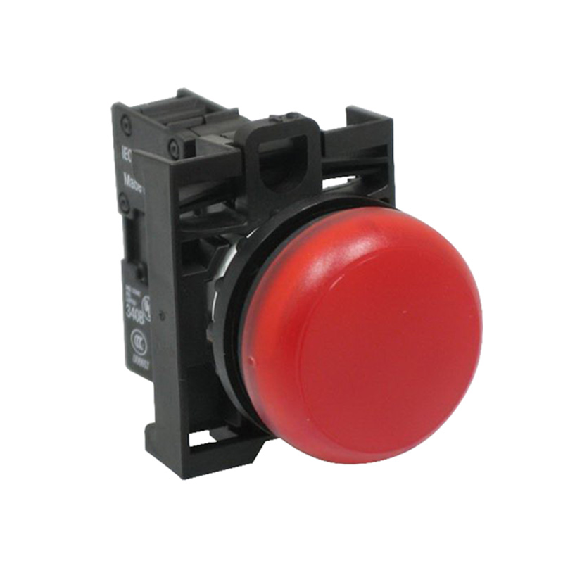 Eaton / Cutler Hammer M22-L-R-R Indicator Light; Flush Lens, 12 - 30 Volt AC/DC, LED, Red