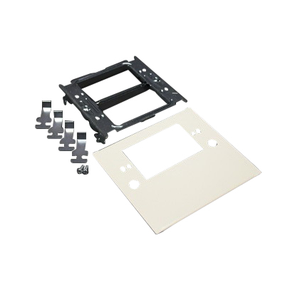 Wiremold G4047C-1 1-Gang 4000 Series Raceway Overlapping Single Receptacle Plate; Snap-On Mount, Steel, Gray