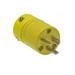 Woodhead / Molex 1448 Super-Safeway® Straight Blade Plug; 50 Amp, 250 Volt, 2-Pole, 3-Wire, NEMA 6-20P, Yellow