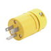 Woodhead / Molex 1447 Super-Safeway® Polarized Straight Blade Plug; 15 Amp, 125 Volt, 2-Pole, 3-Wire, NEMA 5-15, Yellow