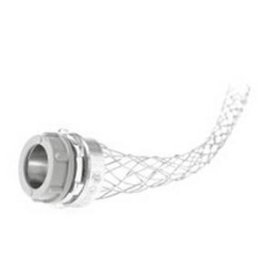 Woodhead / Molex 36505 Super-Safeway® Straight Wide Range Strain Relief Grip; 0.400 - 0.540 Inch Dia, 6 Inch Mesh Length, Steel