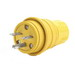 Woodhead / Molex 14W49 Watertite® Polarized Straight Blade Plug; 15 Amp, 250 Volt, 2-Pole, 3-Wire, NEMA 6-15, Yellow