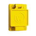 Woodhead / Molex 67W47 Watertite® Single Flip Lid Female Receptacle with FS Coverplate; 125 Volt, 20 Amp, 2-Pole, 3-Wire, NEMA L5-20R, Yellow
