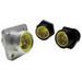 Woodhead / Molex 1R3004A20A120 Mini-Change® Single Keyway A-Size Straight Receptacle; 13 Amp, 600 Volt AC/DC, 3-Pole, Female, Black Epoxy