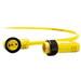 Woodhead / Molex 103000A01F030 Brad® Mini-Change® STOOW A-Size Single-Ended Cordset; 3 ft, 13 Amp, 600 Volt, 3-Pole, Yellow