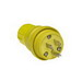 Woodhead / Molex 14W47 Watertite® Polarized Straight Blade Plug; 15 Amp, 125 Volt, 2-Pole, 3-Wire, NEMA 5-15P, Yellow