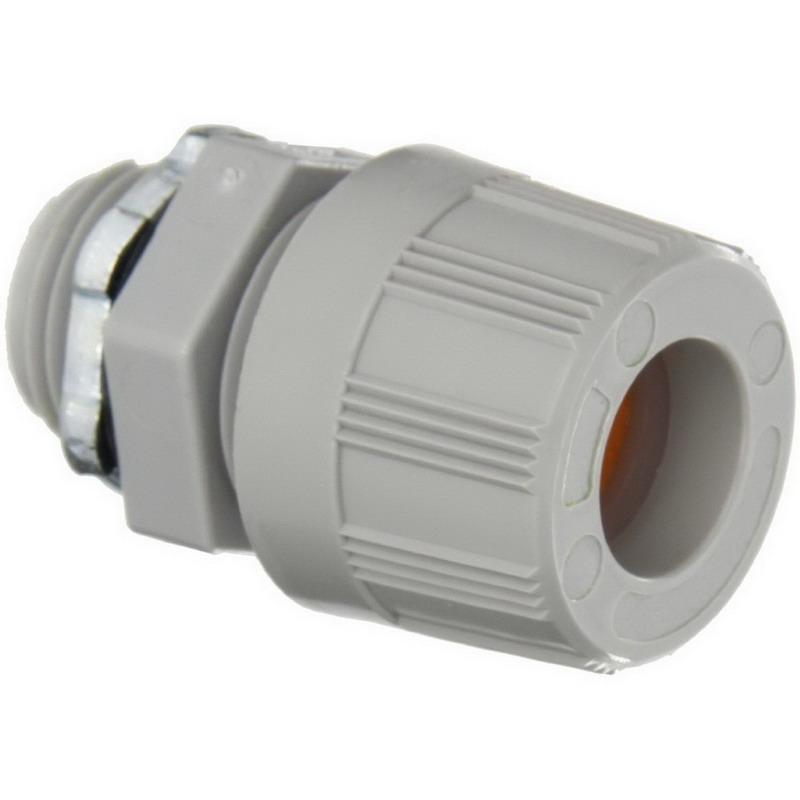 Woodhead / Molex 5530W Max-Loc® Strain Relief Cord Sealing Grip with O-Ring, 0.437 - 0.500 Inch Dia, Nylon