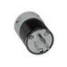 Woodhead / Molex 5266 Safeway® Straight Blade Plug; 15 Amp, 125 Volt, 2-Pole, 3-Wire, NEMA 5-15, Black/White