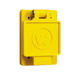 Woodhead / Molex 60W47 Watertite® Female Receptacle with Single Flip Coverplate; 125 Volt, 15 Amp, 2-Pole, NEMA 5-15, Yellow