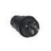 Woodhead / Molex 14W47BLK Watertite® Straight Blade Plug; 15 Amp, 125 Volt, 2-Pole, 3-Wire, NEMA 5-15, Black