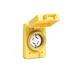 Woodhead / Molex 69W74 Watertite® Single Flip Lid Female Receptacle with FS Coverplate; 125/250 Volt, 30 Amp, 3-Pole, 4-Wire, NEMA L14-30R, Yellow