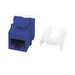 On-Q WP3475-BE50 RJ45 Female Category 5e Keystone Insert; Mated (8P8C) Front x 110 Punchdown, Blue