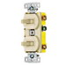 Hubbell Wiring RC101LA tradeSelect® Homeselect™ Two Stacked Combination Toggle Switch; 120 Volt AC, 15 Amp, 1-Pole, Self Grounding, Light Almond