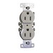 Hubbell Wiring RR15I tradeSelect® Homeselect® Standard Size Straight Blade Traditional Device-Kellems Duplex Receptacle; Screw Mount, 125 Volt, 15 Amp, 2-Pole, 3-Wire, NEMA 5-15R, Ivory