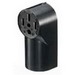 Hubbell Wiring RR430 tradeSelect® Standard Size Straight Blade Power Receptacle; Surface Mount, 125/250 Volt, 30 Amp, 3-Pole, 4-Wire, NEMA 14-30R, Black