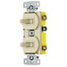 Hubbell Wiring RC303I tradeSelect® Homeselect™ 3-Way Two Combination Toggle Switch; 120 Volt AC, 15 Amp, 1-Pole, Self Grounding, Ivory