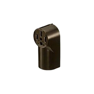 Hubbell Wiring RR350 tradeSelect&reg Standard Size Straight Blade Power Receptacle Surface Mount  125/250 Volt  50 Amp  3-Pole  3-Wire  NEMA 10-30R  Black