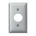 Hubbell Wiring SS7 Twist-Lock® Standard Size 1-Gang Single Receptacle Plate; Screw, Wall Mount, 302/304 Stainless Steel