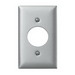 Hubbell Wiring SS720 Twist-Lock® Standard Size 1-Gang Single Receptacle Plate; Screw Mount, 302/304 Stainless Steel