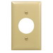 Hubbell Wiring NP7I Twist-Lock® Standard Size 1-Gang Single Receptacle Plate; Screw Mount, Nylon, Ivory
