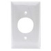 Hubbell Wiring NP7W Twist-Lock® Standard Size 1-Gang Single Receptacle Plate; Screw Mount, Nylon, White