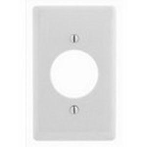 Hubbell Wiring NP720W Twist-Lock® Standard Size 1-Gang Single Receptacle Plate; Screw Mount, Nylon, White
