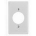 Hubbell Wiring NP720W Twist-Lock® Standard Size 1-Gang Single Receptacle Plate; Screw Mount, Nylon, White