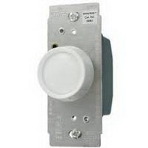 Hubbell Wiring RD600RI tradeSelect® Single Pole Rotary Dimmer; 120 Volt AC, 600 Watt, 5 Amp, Incandescent, Ivory