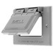Hubbell Wiring RW51020 While-In-Use 1-Gang Weatherproof Cover; Device Mount, Die-Cast Zinc, Gray