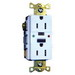 Hubbell Wiring GFTR15W Grounding Tamper-Resistant Standard Size GFCI Receptacle with LED; Screw Mount, 125 Volt AC, 15 Amp, 2-Pole, 3-Wire, NEMA 5-15R, White