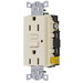 Hubbell Wiring GF15LALA Circuit Guard® Grounding Standard Size GFCI Receptacle with LED; Screw Mount, 125 Volt AC, 15 Amp, 2-Pole, 3-Wire, NEMA 5-15R, Light Almond
