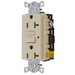 Hubbell Wiring GF20ALLA Circuit Guard® Grounding Decorator Standard Size Duplex GFCI Receptacle with LED; Screw Mount, 125 Volt AC, 20 Amp, 2-Pole, 3-Wire, NEMA 5-20R, Almond