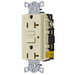Hubbell Wiring GF20ILU Grounding Standard Size GFCI Receptacle with LED; Screw Mount, 125 Volt AC, 20 Amp, 2-Pole, 3-Wire, NEMA 5-20R, Ivory