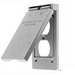 Hubbell Wiring RW51470 While-In-Use 1-Gang Weatherproof Cover; Box Mount, Die-Cast Zinc, Gray