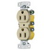 Hubbell Wiring RR15SI tradeSelect® Residential Standard Size Traditional Duplex Receptacle; Screw Mount, 125 Volt, 15 Amp, 2-Pole, 3-Wire, NEMA 5-15R, Ivory