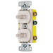 Hubbell Wiring RC303LA tradeSelect® Homeselect™ 3-Way Two Combination Toggle Switch; 120 Volt AC, 15 Amp, 1-Pole, Self Grounding, Light Almond