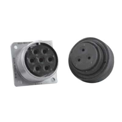 """""""""""Benchmark Products AE552L204PW MIL Series Connector Receptacle 1-1/4-18 UNEF, Male Pin, Electroless Nickel Plated,"""""""""""" 605257"""
