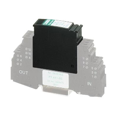Phoenix Contact Phoenix 2838322 PT 4X1-24DC-ST Surge Protection Plug; 24 Volt DC Nominal, 28 Volt DC Maximum, 20 Kilo-Amp