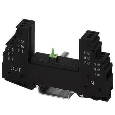 Phoenix Contact Phoenix 2839208 PT 2X2-BE Surge Protection Base Element; 35 mm DIN Rail Mount, Black