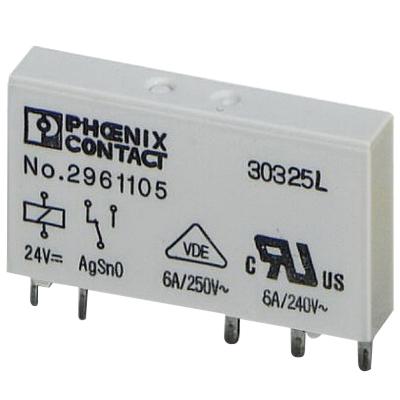Phoenix Contact Phoenix 2961134 60DC/21AU REL-MR- Pluggable Miniature Single Relay; SPDT, 1-Pole, Universal Mount
