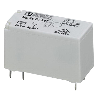 Phoenix 2961341 REL-MR-24DC/1IC Pluggable Miniature Single Relay; 1NO, Universal Mount