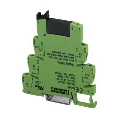 Phoenix Contact Phoenix 2967840 PLC-OSC-24DC/230AC/ PLC Interface Solid-State Relay Module; 24 Volt DC Input, 24 - 253 Volt AC Output, 8 Milli-Amp Input, 0.75 Amp Output, Universal Mount