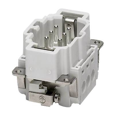 Phoenix 1648115 6-I-UT-M HC-B Heavycon® B6 Male Insert; 16 Amp, 500 Volt, Screw Terminal, 20-14 AWG
