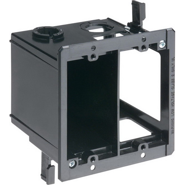 Arlington LVDR2 2-Gang Power and Low Voltage Box Plastic  Black