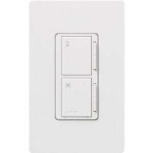 Lutron MA-ALFQ35-WH Maestro® Multi-Location Designer Style Companion Fan With Light Control; 120 Volt AC, 3.5 Amp, 300 Watt, Single Pole, Tap On/Off, White