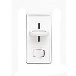 Lutron SFSQ-LF-WH Skylark Quiet 3-Speed Designer Style Dual Fan Control/Light Switch; 120 Volt AC, 1.5 Amp Fan Control, 360 Watt Light, Single Pole, Rocker Slide On/Off, White