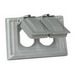 Cooper Wiring S2966 1-Gang Weather Protective Cover; Vertical Mount, Tough Plastic, Gray