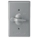 Cooper Wiring S983-SP Switch Cover; Metal, Gray